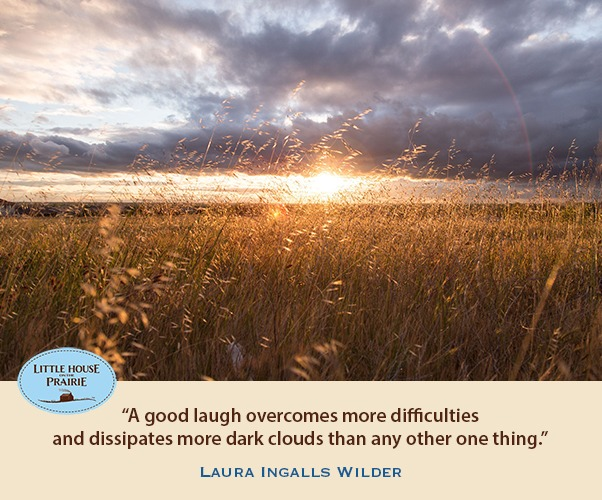 A good laugh overcomes more difficulties
