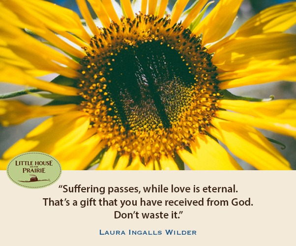 Suffering passes, while love is eternal