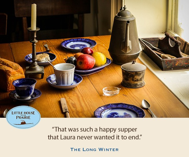 That was such a happy supper that Laura