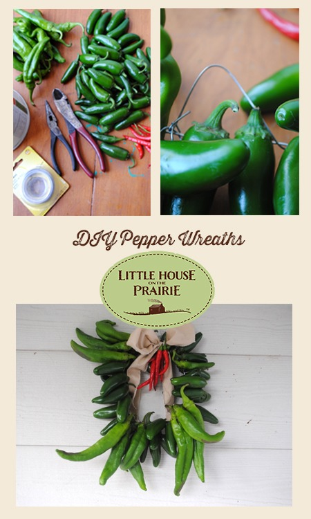 DIY Pepper Wreaths