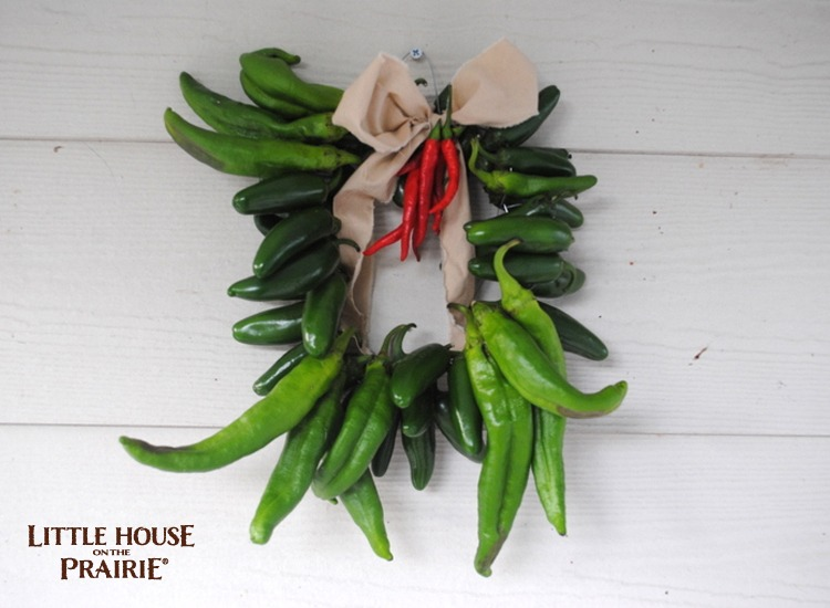 Old-Fashioned Pepper Wreath DIY