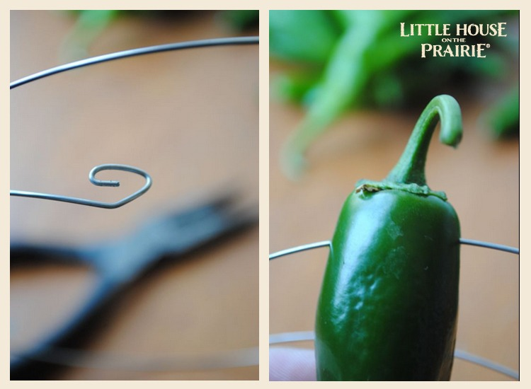 Preparing the wire for your pepper