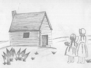Little House on the Prairie Pencil Sketch from a Fan