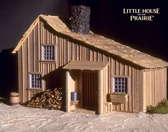 A large scale model of the Ingalls family house.