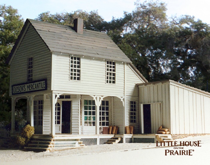 A large scale model of the Oleson's Mercantile.