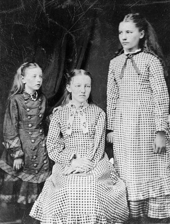 From the left - Carrie, Mary, and Laura Ingalls