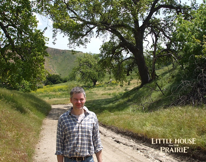 Eric Carson visiting Big Sky Movie Ranch where the TV series was filmed.