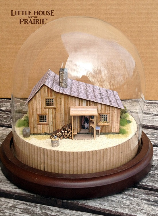 Beautiful Ingalls house model from Little House on the Prairie made by Eric Caron.