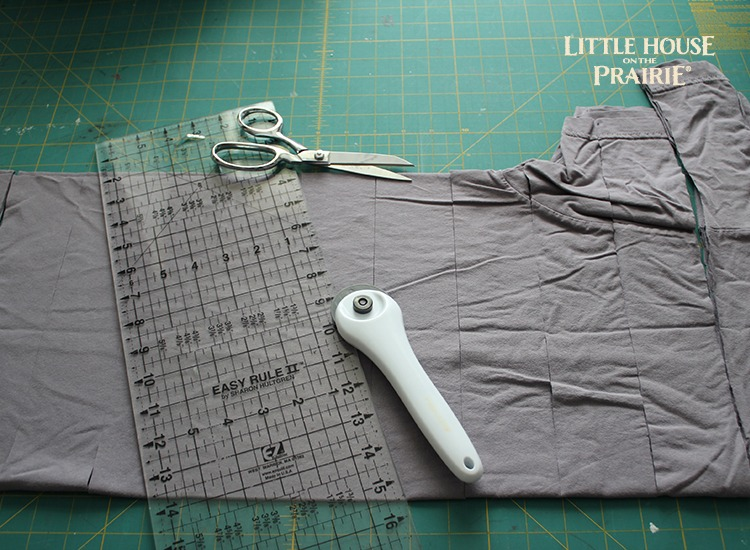 Cut fabric strips from your shirt