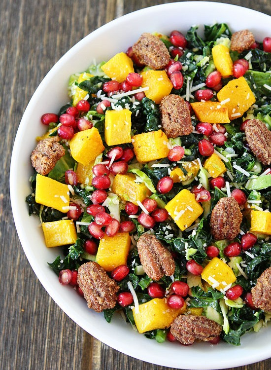 Kale with Butternut and Pomegranate Salad Recipe