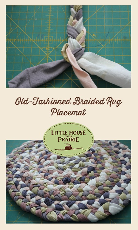 Old-Fashioned Braided Rug Placemat