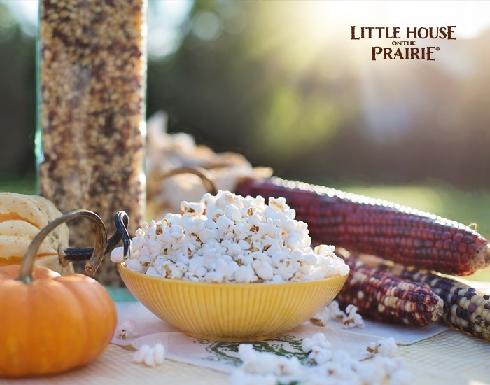 Thanksgiving and Laura Ingalls Wilder - popcorn, parched corn, maize, and other fall foods