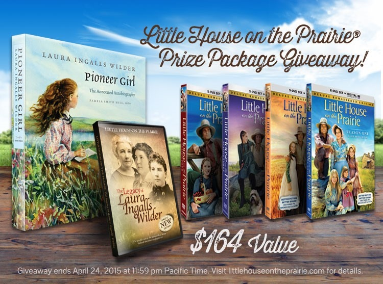 Little House on the Prairie Giveaway - DVD Sets, Documentary, and Pioneer Girl Books Ends 4/24