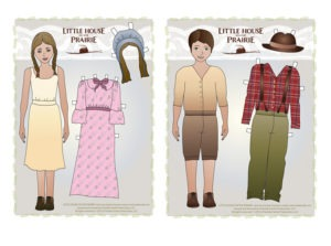 Paper boy and Paper Girl free printable inspired by Little House on the Prairie