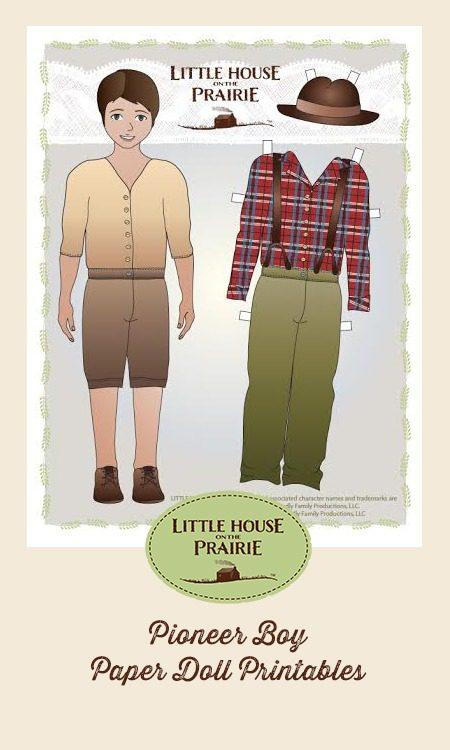 Pioneer Boy Paper Doll Printables - Free!!