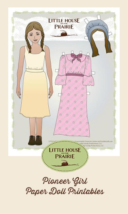photograph about Printable Paper Dolls Templates titled Pioneer Female and Pioneer Boy Paper Doll Printables
