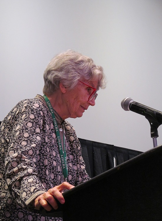 The Little House Cookbook author Barbara Walker speaks at LauraPalooza.