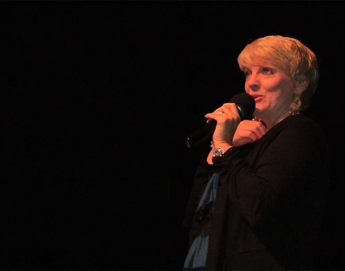"Alison ""Nellie Oleson"" Arngrim performs at LauraPalooza 2012."