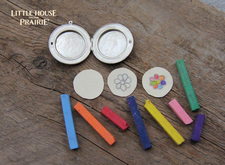 Little House on the Prairie Treasure Box Locket Activity