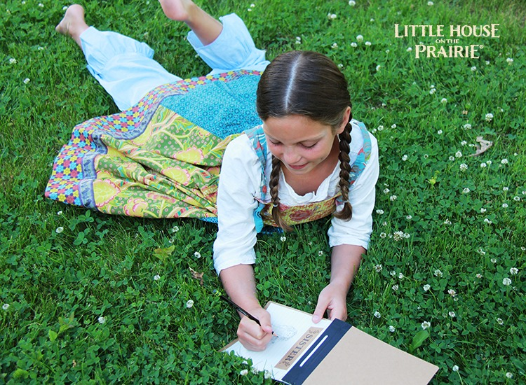 Little House on the Prairie inspired memory book activity