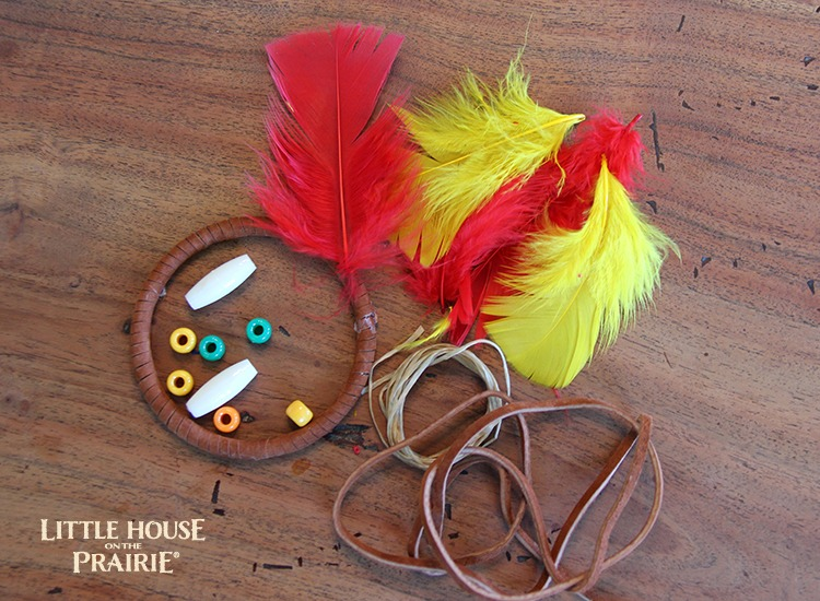 Dream catcher craft - Little House on the PRairie inspired Native American activity