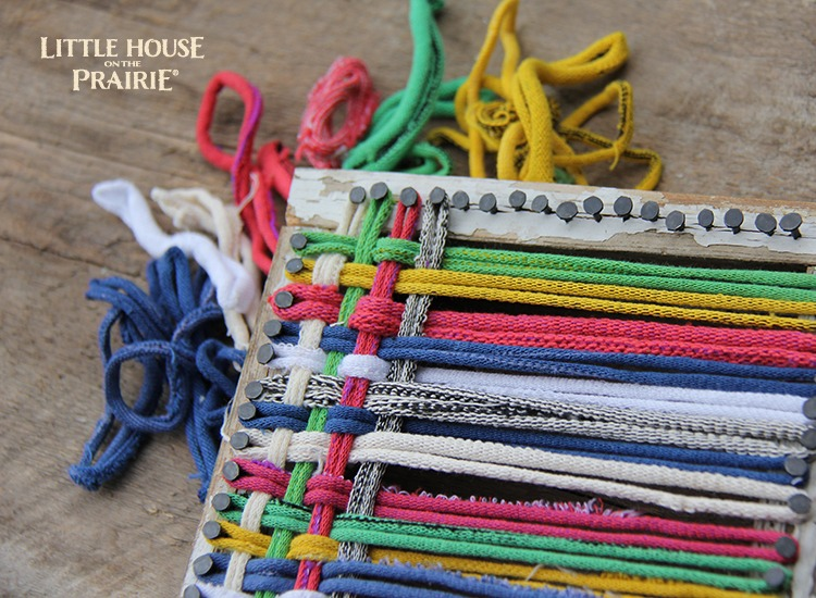 Little House on the Prairie Inspired Activity - Hand held weaving loom