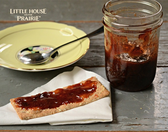 Plum Preserves on Cracker - Love this old-fashioned Little House on the Prairie recipe!