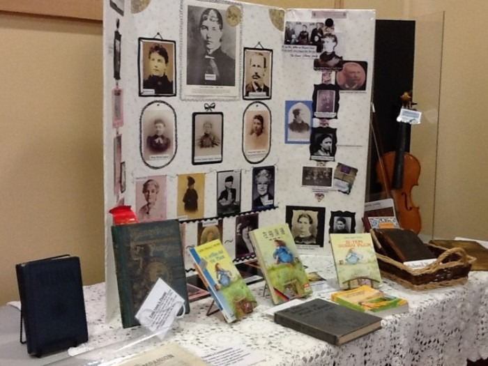 Laura Ingalls Wilder photo board and book series