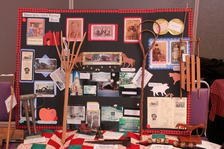A Farmer Boy educational display as part of Little House on the Prairie learning workshops!