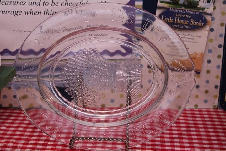 Laura Ingalls Wilder's glass bread plate.