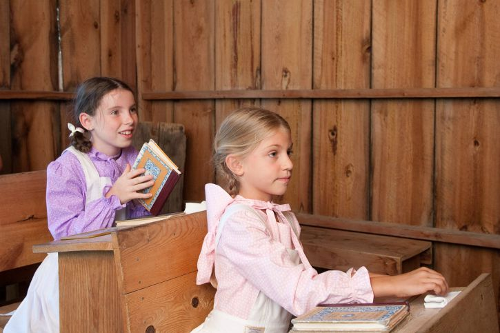 Restored school room that Laura Ingalls Wilder attended