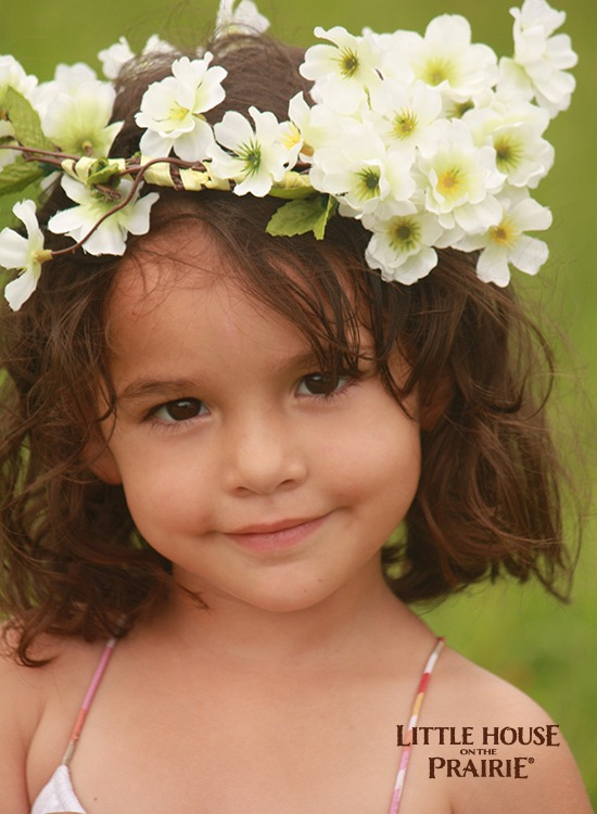 Flower fairy hair wreath crown.