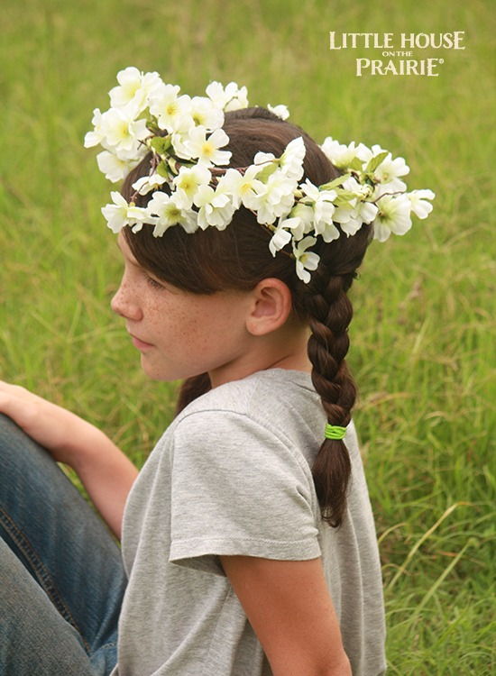 Country-style floral hair wreaths.