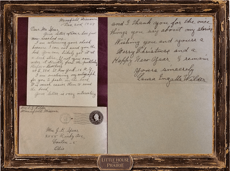 Fan Feature – Judy Green's Story of Laura Ingalls Wilder's Letter