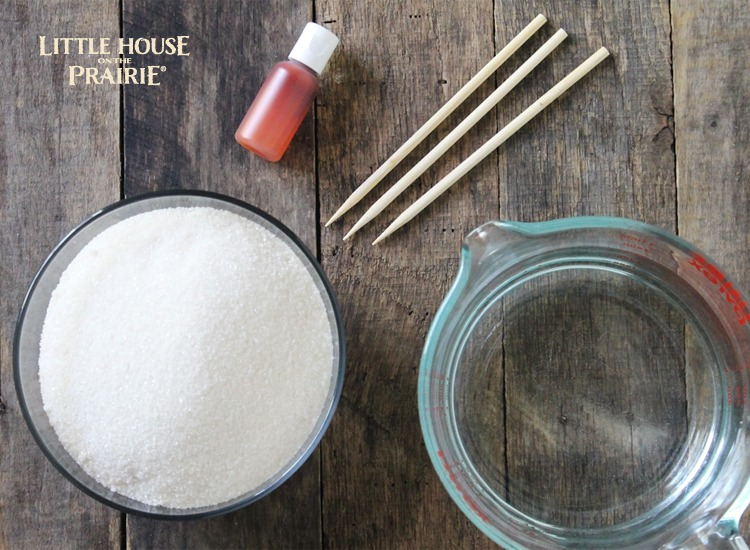 Rock Candy Ingredients - what a cool recipe idea!