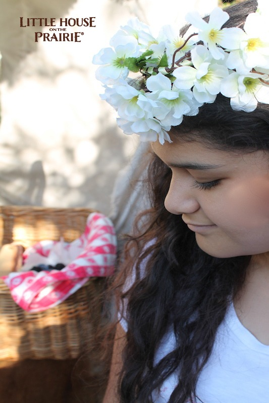 Picnic Little House on the Prairie Fun - Flower Hair Wreath