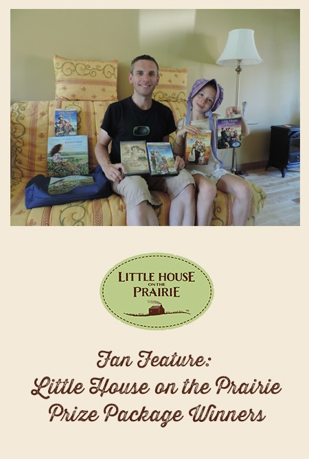 LHOTP Prize Winner - In a bonnet from her recent Little House on the Prairie travels! Too cute!