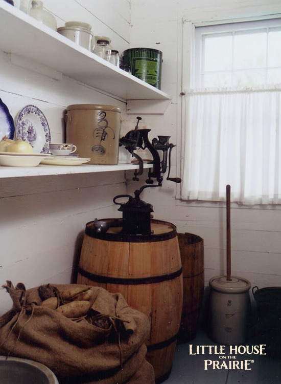Replica pantry of a historic Laura Ingalls Wilder website.