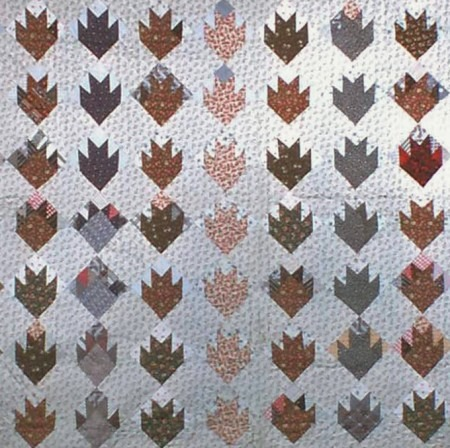 Maple Leaf: a variation of a Nine Patch Pattern | Quilting with Little House on the Prairie