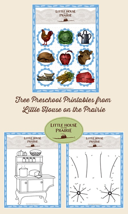 Free Preschool and Kindergarten Printables from Little House on the Prairie
