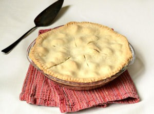 Little House on the Prairie Rhubarb Pie Featured