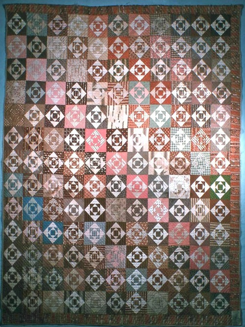 An example of a quilt made with fabrics that were naturally dyed | Quilting with Laura Ingalls Wilder
