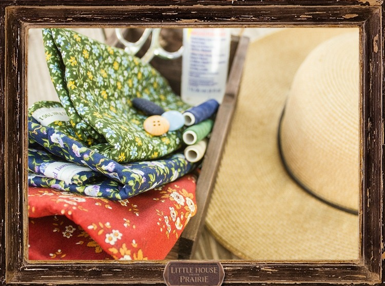 Straw Hat Embellishments with Little House on the Prairie® Fabrics