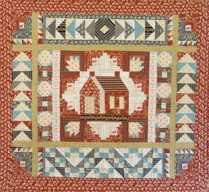 LINDA HALPIN'S QUILT USING ONE OF ANDOVER'S LITTLE HOUSE ON THE PRAIRIE® FABRIC COLLECTIONS.