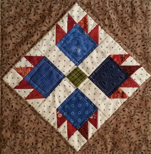 A Bear's Paw Block Example by Linda Halpin | Quilting with Laura Ingalls Wilder