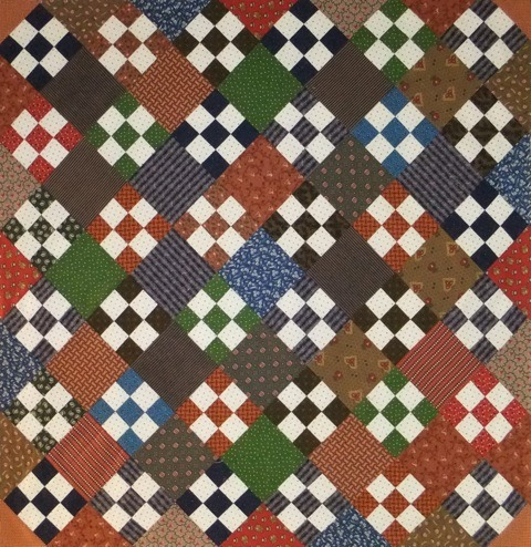 9-Patch Quilt Block Example by Linda Halpin | Quilting with Laura Ingalls Wilder