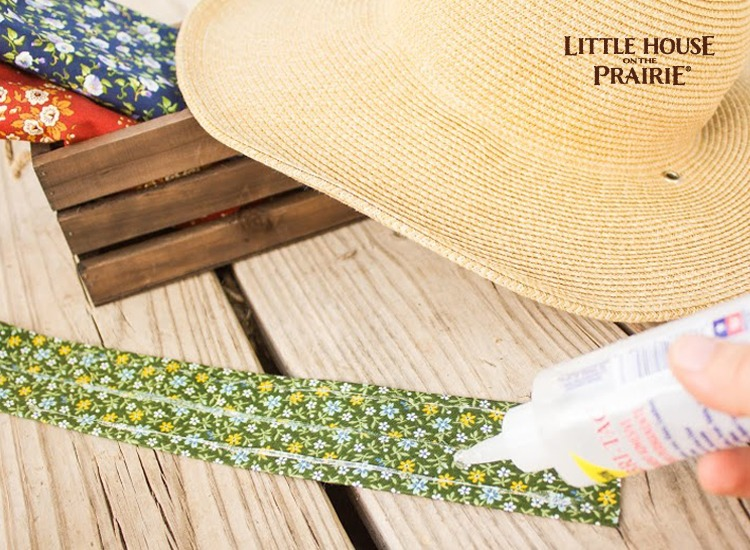 Creating your hat's hatband to dress up your straw hat.