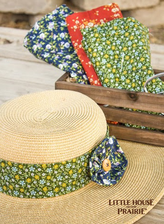 Creating a lovely, old-fashioned straw hat DIY