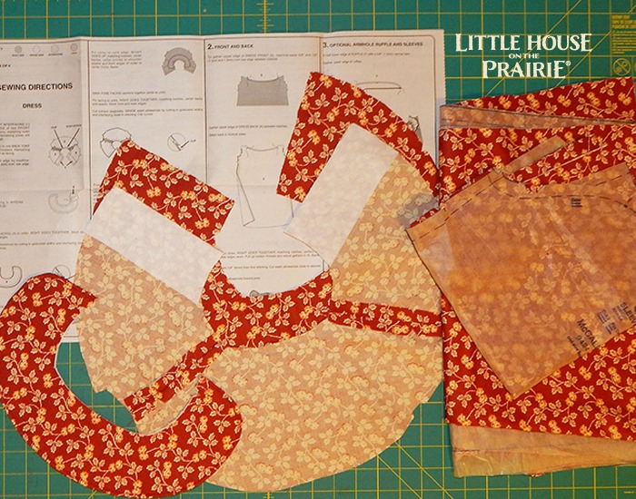 Cutting the pieces of your Prairie Dresses according to the pattern.