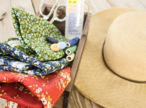 Straw Hat Embellishments with Little House on the Prairie Fabrics